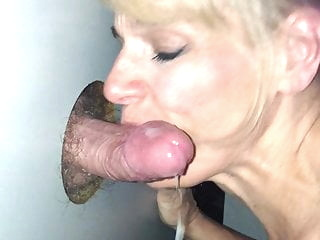 Glory Hole Slut Gets the Cum blonde blowjob cumshot video