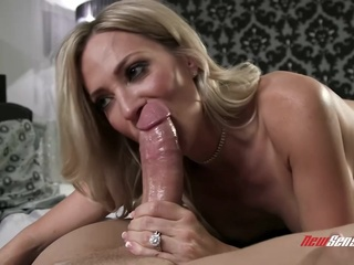 Busty blonde woman, Blake Morgan is playing with her big tits while getting fucked hard big tits blonde hd video