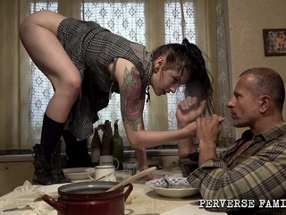 Perverse Family Daddy's Girl cunnilingus handjob kissing video