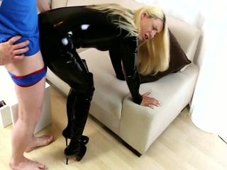 Latex Whore Gets Anal Fuck From Big Cock - German - Daynia Xxx anal big ass big cock video